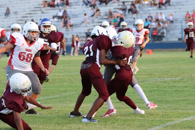 Lamar 7th grade football results vs. South Belton