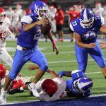 JV Blue Football rolls past Belton 61-27