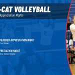 Tem-Cat Volleyball sets appreciation night games