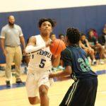 Boys freshman blue basketball pulls away from Rudder in second half