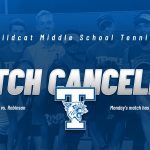 Middle School Tennis Match with Robinson on Monday is cancelled