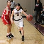 Lamar girls 8th grade basketball results vs. South Belton