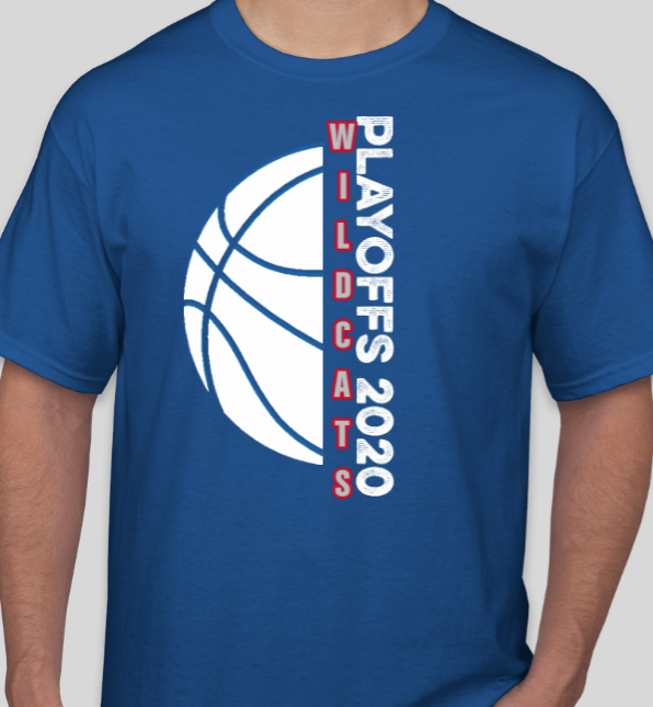 Order your Wildcat Basketball Playoff T-Shirt now