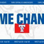 Temple Softball times changes at Harker Heights