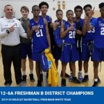 "Boys freshman white basketball wins ""B"" team district title"