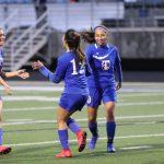 JV girls soccer offensive explosion tops Shoemaker 9-1