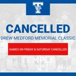 Drew Medford baseball tournament cancelled