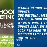 Middle School soccer meeting postponed