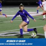 Aydrien O'Grady selected Honorable Mention All-District