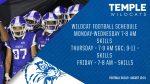Football Summer Workouts – August 10-14
