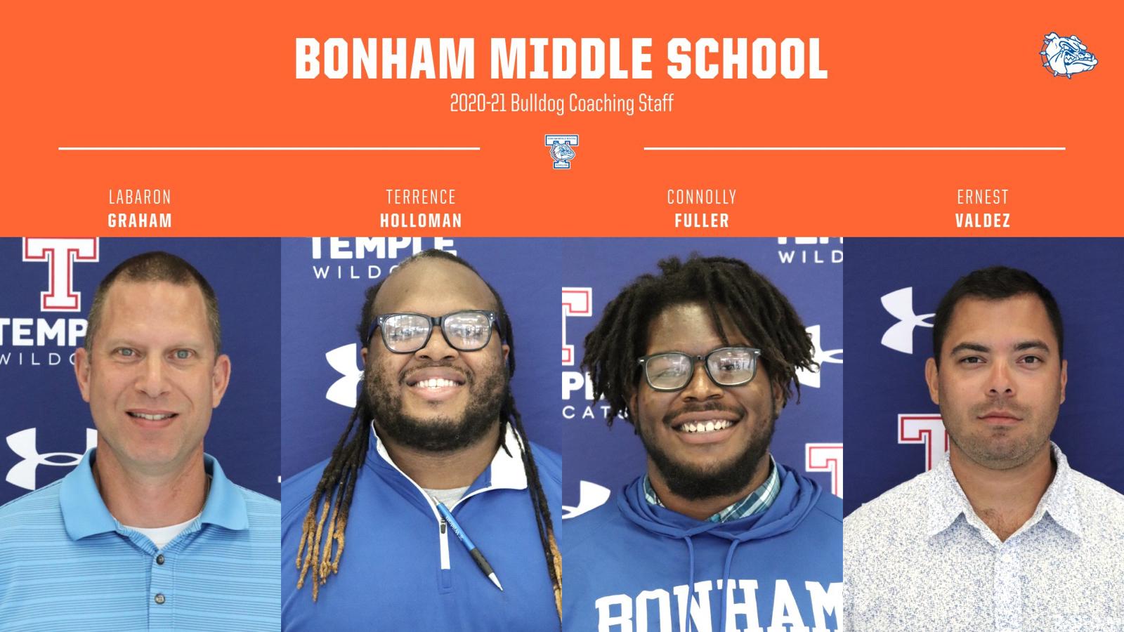 Bonham Middle School Boys Coaching Staff