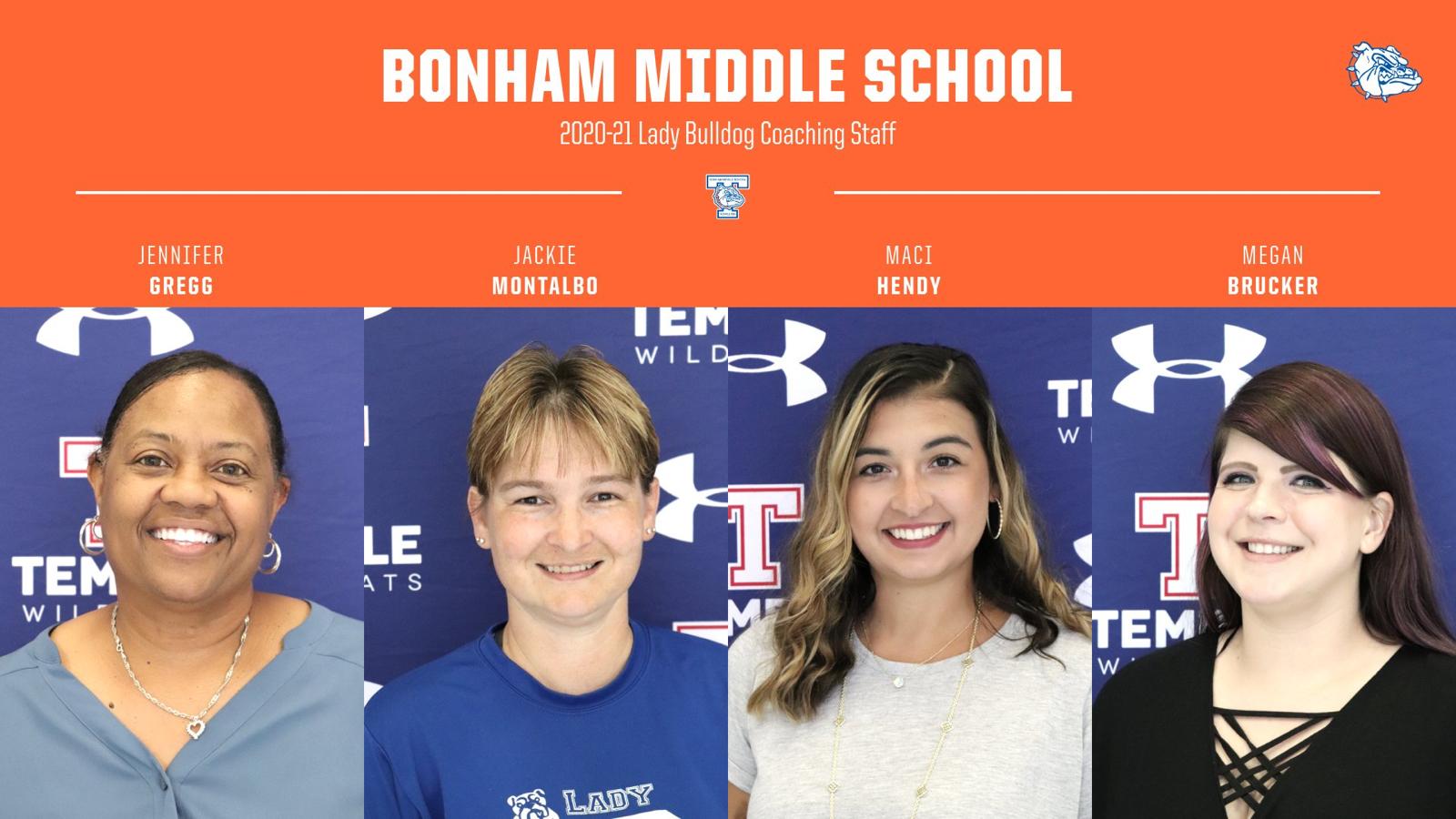 Bonham Middle School Girls Coaching Staff
