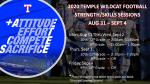 Wildcat Football Strength/Skills – Aug. 31-Sept. 4