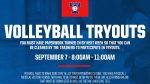 Volleyball tryouts set for September 7th
