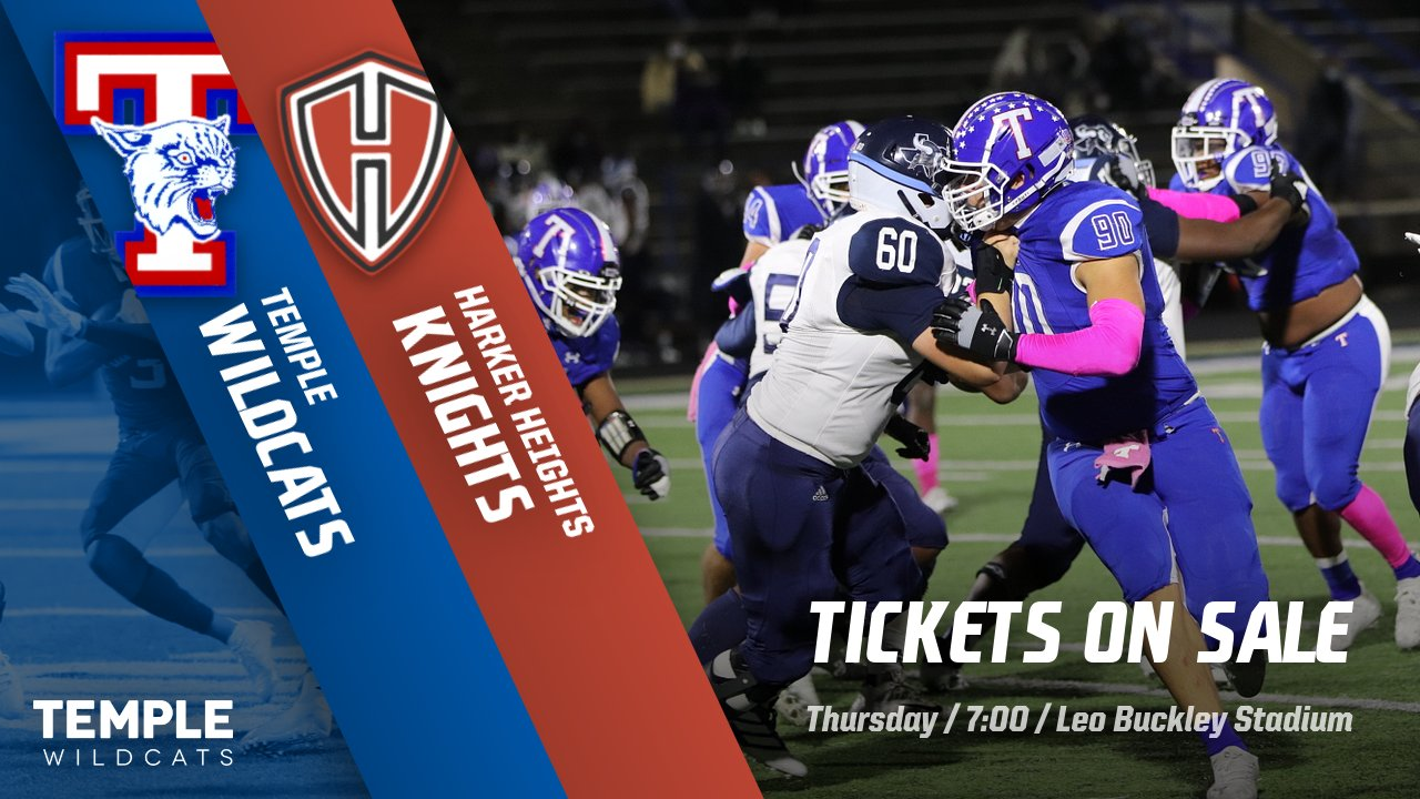 Temple-Harker Heights tickets on sale