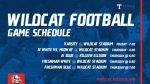 Wildcat Football schedule of games with Killeen Ellison