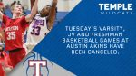 Temple-Austin Akins boys basketball cancelled