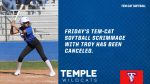 Tem-Cat Softball scrimmage with Troy canceled