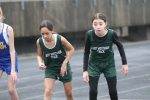 Travis 7th grade girls track takes 1st place at the Travis Invitational