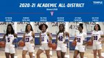 Six Tem-Cats earn Academic All-District