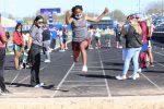 Lamar girls 7th grade track results from the Bonham Invitational