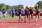 JV Girls Track at the District Meet - Finals