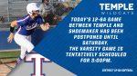 Temple-Shoemaker Softball postponed until Saturday