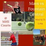 Boys Tennis – Opening Match Wed 8/21