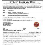 Lil' Mavs – 5th & 6th Grade Sign-up!