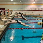 Girls Swim and Dive top the Hot Dogs 118 – 67