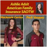 Ashlie Adsit American Family Insurance SAOTW – Mackenzie Carrico & Porfi Vasquez