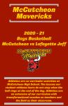 Boys Basketball Program (McCutcheon vs Lafayette Jeff (2.4.21)