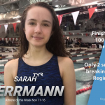 Sarah Herrmann Named Athlete of the Week For the Week of Nov. 11-16.