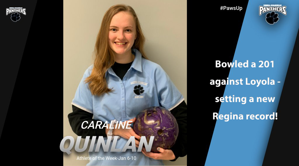 Caraline Quinland Named Athlete of the Week for the Week of Jan. 6-11