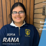 Sophia Rana Named Athlete of the Week