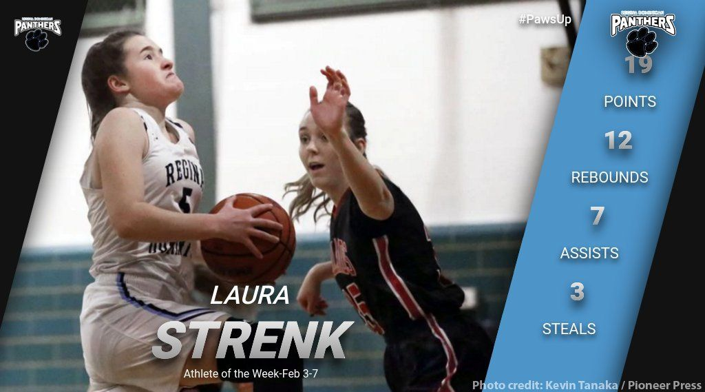Laura Strenk Named Athlete of the Week for the Week of Feb. 3-8