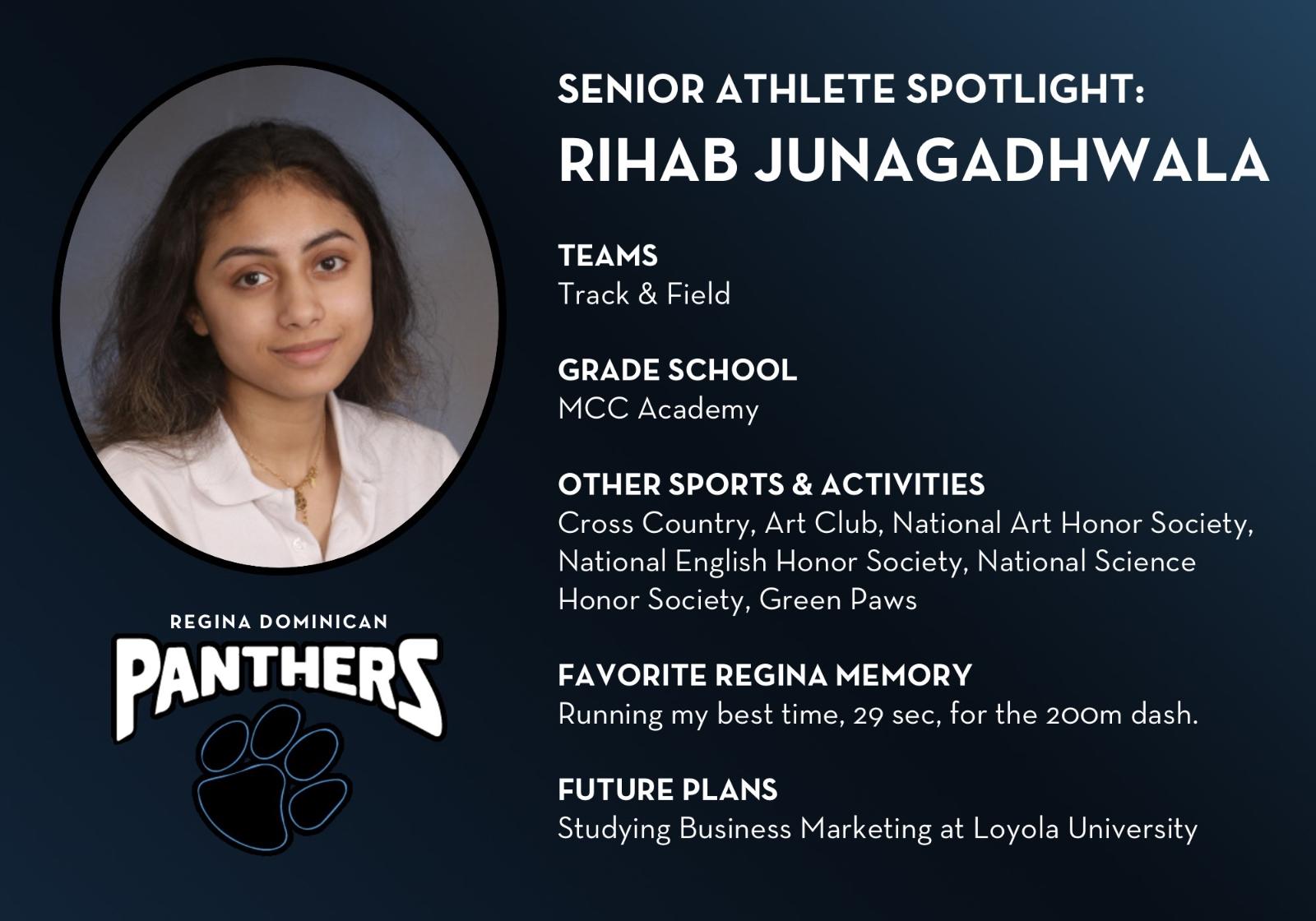 Senior Athlete Profile-Rihab Junagadhwala