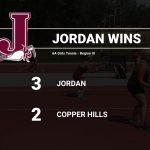Girls Varsity Tennis beats Copper Hills 3 – 2 for Big Win in Region 3