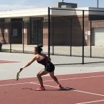 Girls Varsity Tennis falls to West