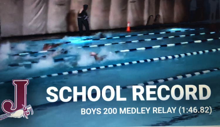 Boys Swimming Sets School Record