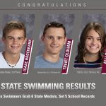 Swimmers Grab 6 Medals at State, Set 5 School Records