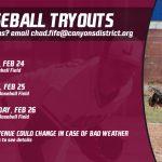 Baseball Tryouts Begin Feb 24