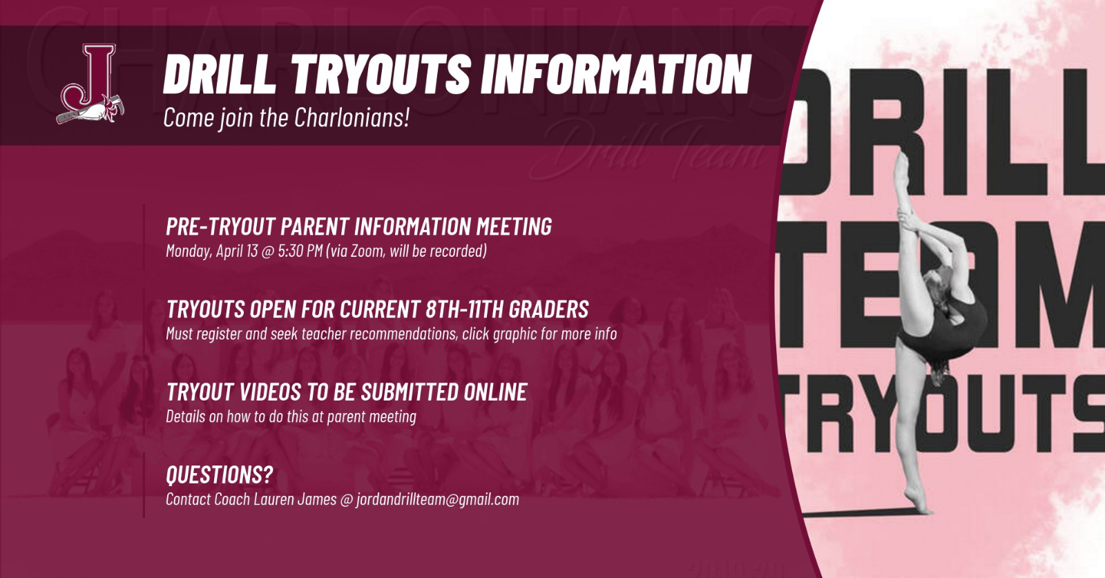 Drill Tryouts – Parent Meeting!