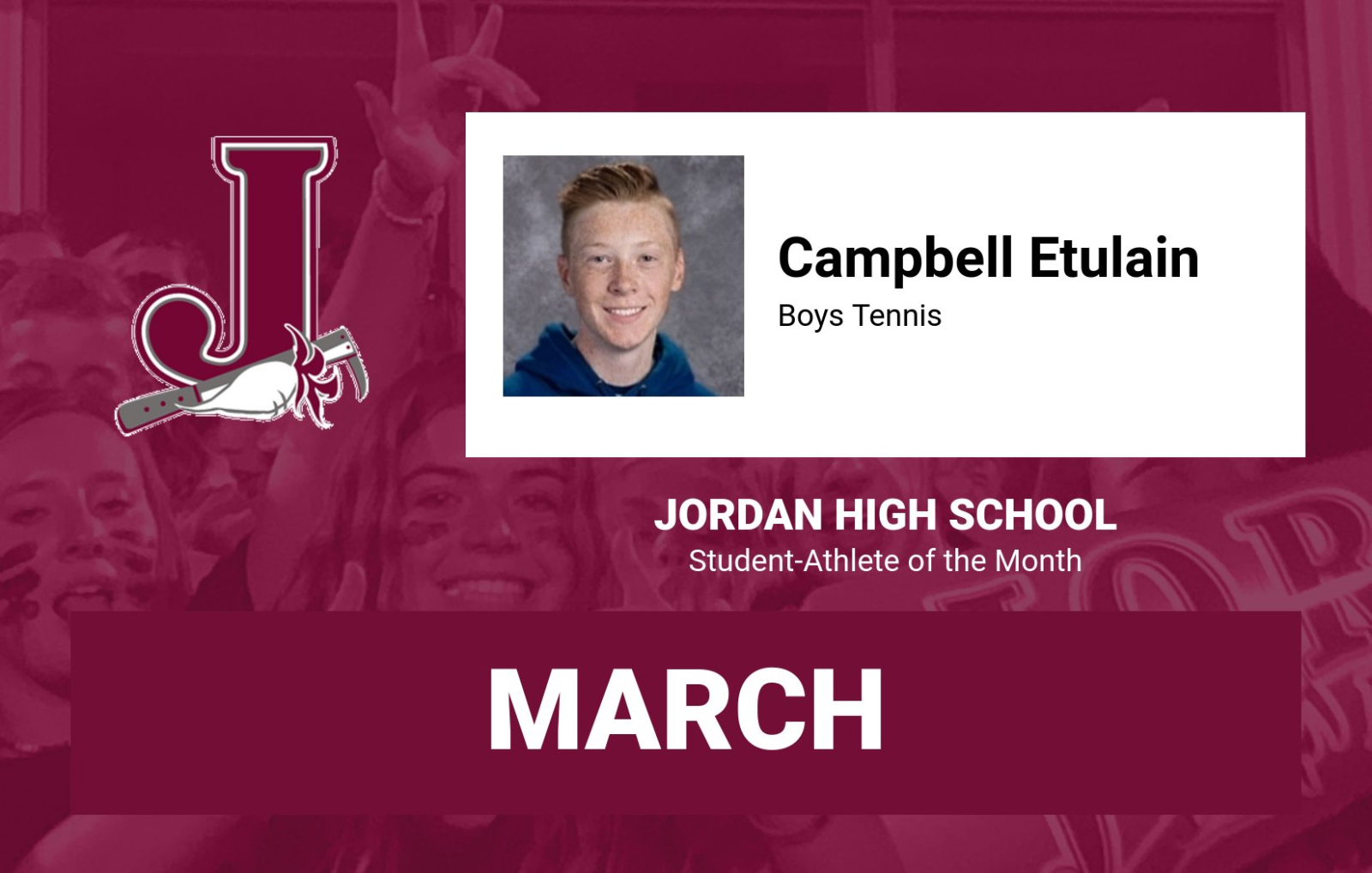 Jordan Beetdiggers' March Athlete of the Month – Campbell Etulain