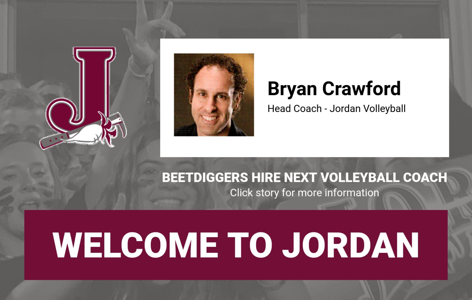 JORDAN VOLLEYBALL HIRES BRYAN CRAWFORD AS NEXT HEAD COACH