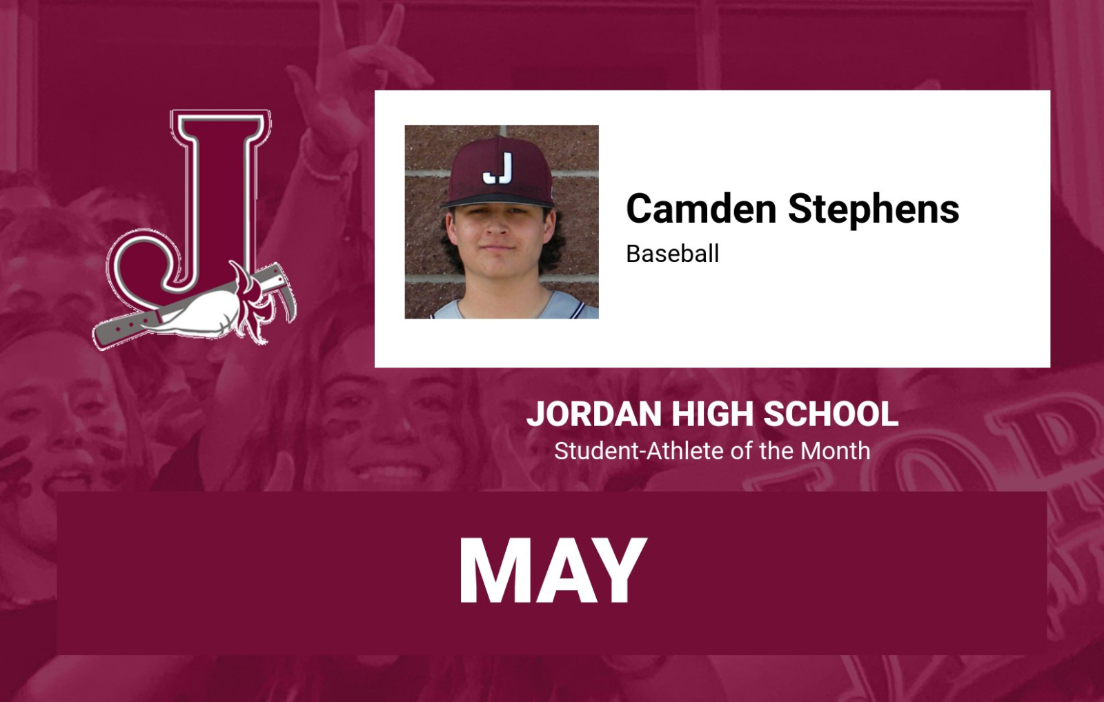 JHS May Athlete of the Month – Camden Stephens