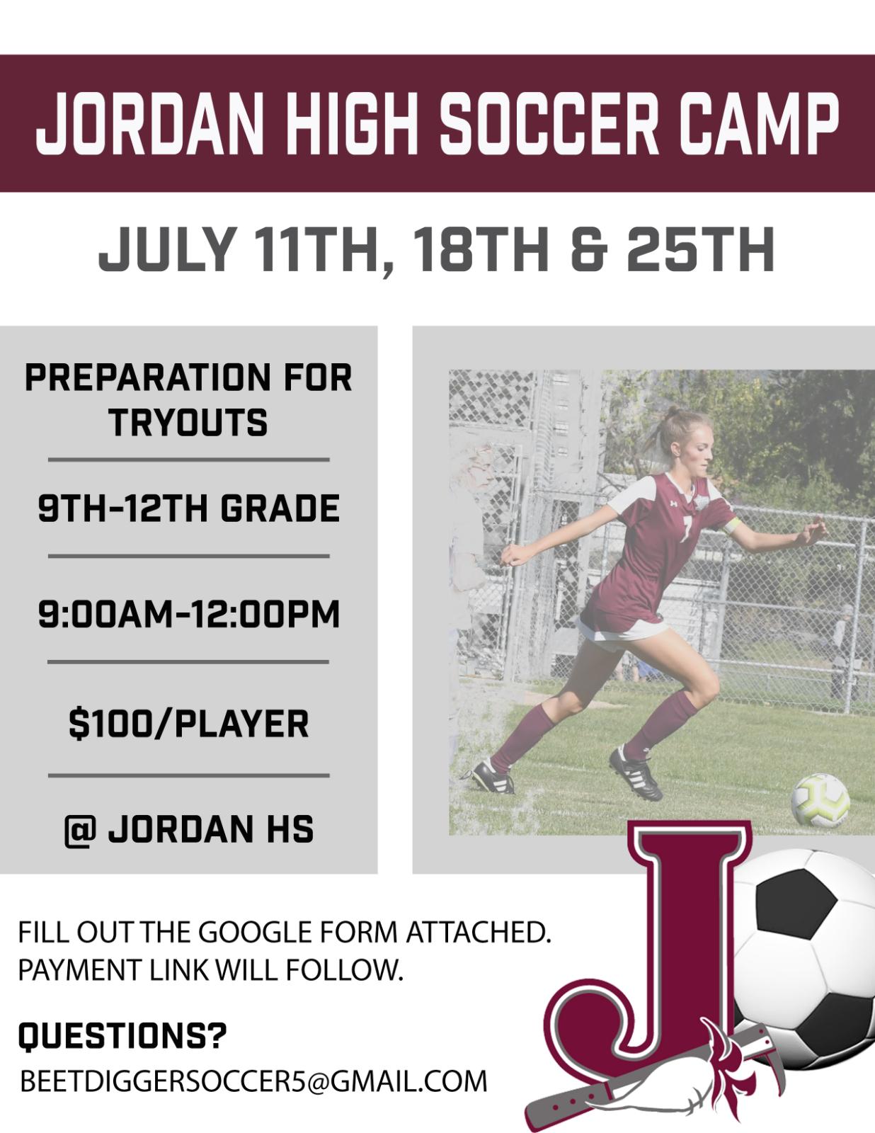JHS Girls Soccer Camp