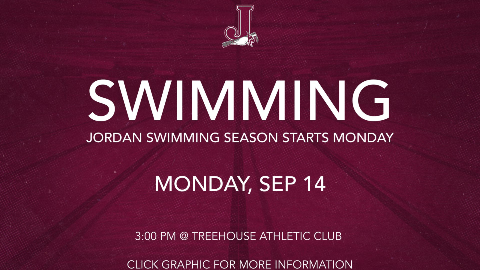 Coed Swimming Starts Monday, Sep 14