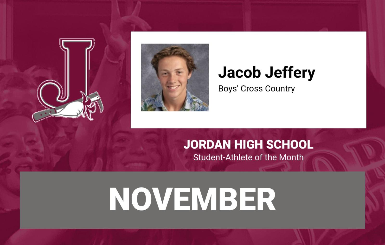 Jacob Jeffery Named Jordan Student-Athlete of the Month