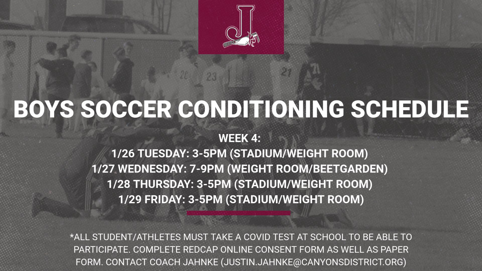 Boys Soccer Conditioning – Week 4